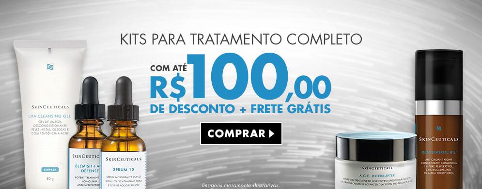 Desconto de até 100 reais nos Kits completos de tratamento