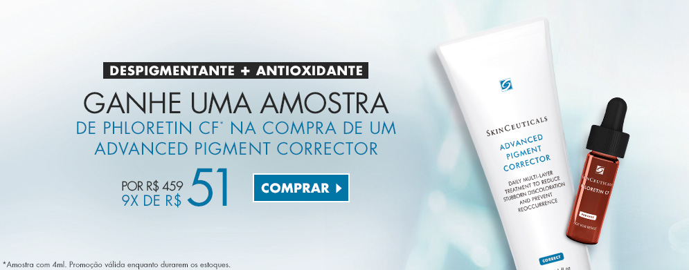 Compre despigmentante advanced pigment corrector ganhe amostra Plhoretin