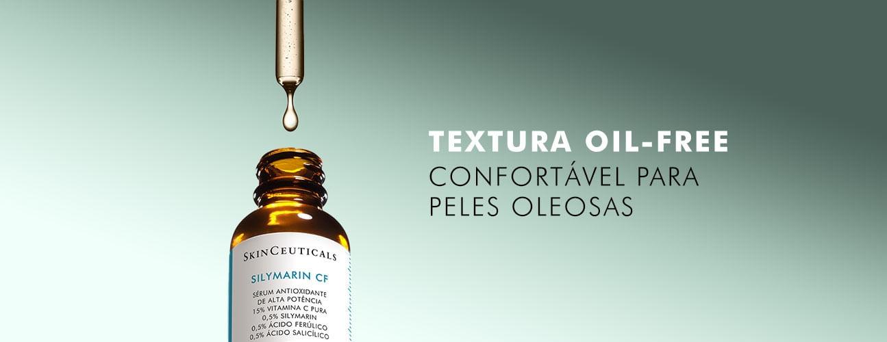 Textura oil-free - confortável para peles oleosas